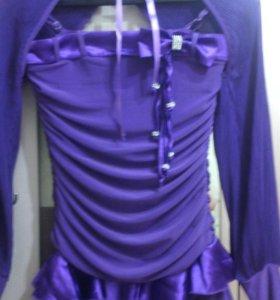 Вечерное фиолетовое платье