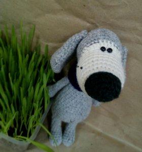 Собачка вязаная игрушка