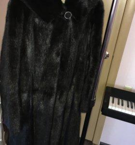 52-54 Норковая шуба с капюшоном