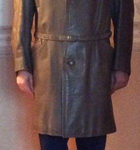 Пальто мужское кожанное