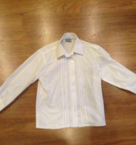 Рубашка белая рост 110-118