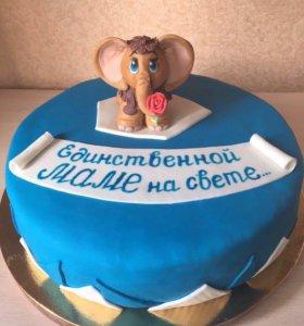 Торт с мамонтенком 🐘
