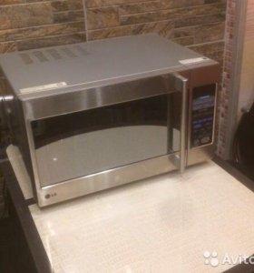 Микроволновая печь LG c грилем