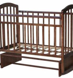 Кровать АЛИТА-3 поперечный маятник (цвет Орех)