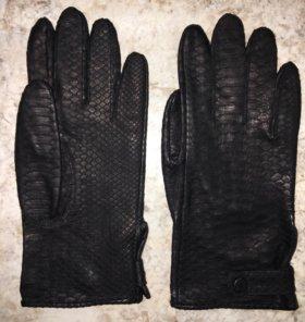 Перчатки из натуральной кожи питона, унисекс