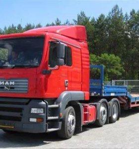 Сопровождение негабаритных грузов, услуги трала