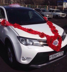 Аренда свадебного украшения на машину