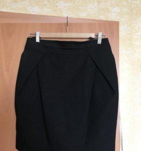 Юбка чёрная классическая