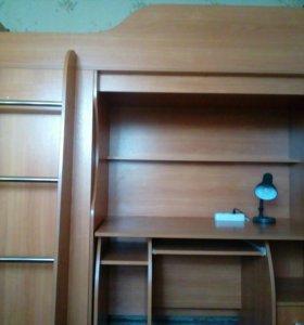 Стенка (кровать с матрасом,стол,шкаф)
