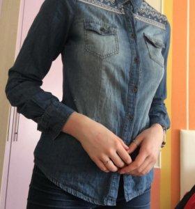 Рубашка джинсовая zolla