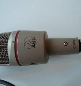 Микрофон AKG C3000-B + студийный фильтр PF80