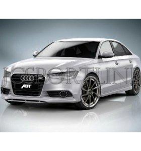 Накладка на передний бампер ABT для Audi A6 (C7)