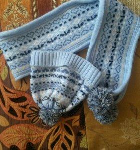 Шапочка и шарф на малыша