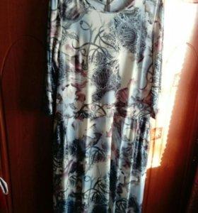 Платье в пол. Размер! 56-58.