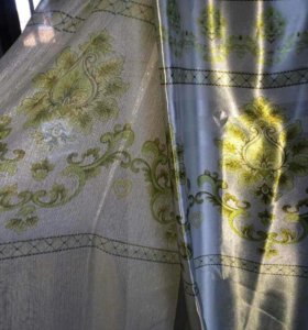 Продам шторы с тюлями.( в комлекте,новые)
