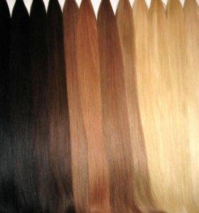 Волосы натуральные на трессах .