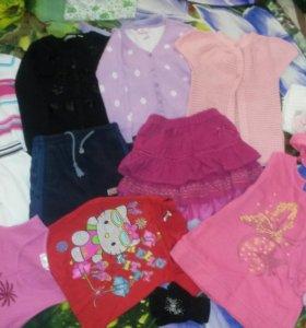 Пакет одежды на девочку на рост 116