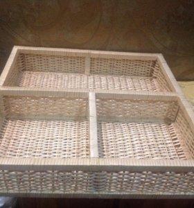 Ящик плетённый