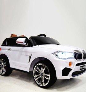 Джип  BMW X5 аккумуляторно-зарядный 2 мотора.