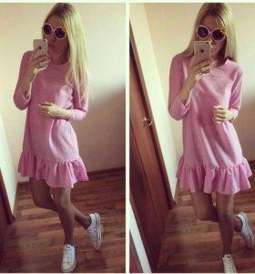 Платье. Новое. Розовые и голубое.