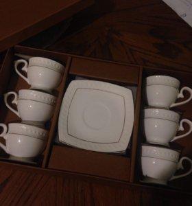 Кофейный сервиз на 6 персон новый!