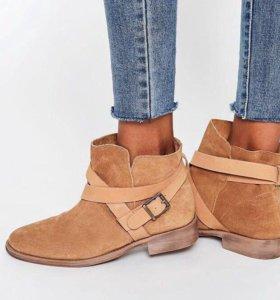 Замшевые ботинки asos новые