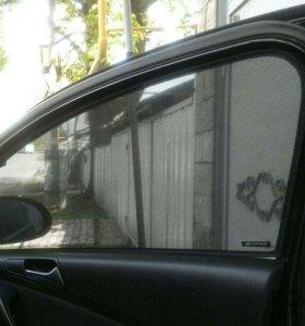 Каркасные солнцезащитные шторки VW passat b6