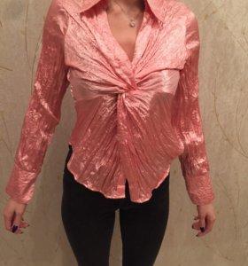Нарядная розовая блузка
