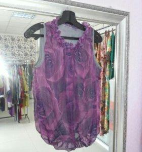 Блузка Дама шифон на подкладе