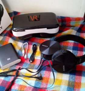 Набор VR: 3D box + powerbank 10400 + Гарнитура