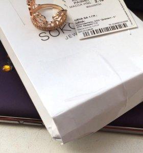 Шикарное кольцо брэнд sokolov
