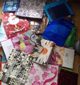 Подарочная упаковка , пакеты для хранения 130 штук