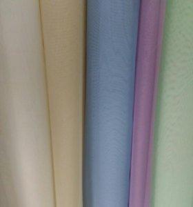 Вуаль разных цветов 3 метра высотой.