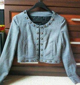 Укороченный пиджак жакет болеро