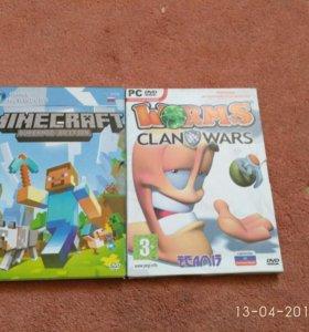 Две компьютерные игры майнкрафт и Worms