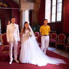 Продам свадебное платье и костюм жениха
