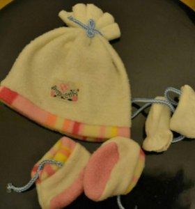 Шапка варежки обувь для куклы