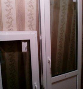 Балконная дверь. Окно пластиковое.