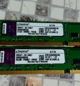 DDR3 4Gb KIT 2*2Gb KVR1333D3N9K2/4Gb