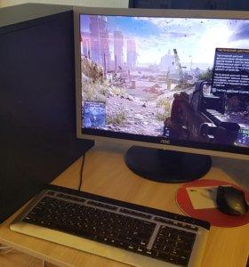 "Компьютер с монитором 19""(проц.core2duo,опер.4гб,"