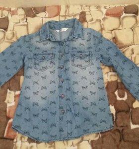 Рубашка для девочки на 6-8лет