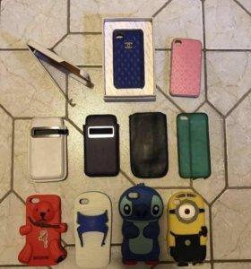 Чехол на iPhone 4 и 5 все за 300₽