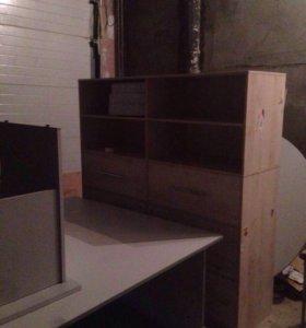Полки для бумаг шкафы столы новые