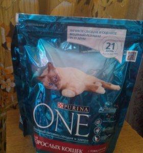 Purina One , корм для взрослых кошек 750 г