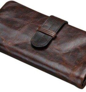 Кожаный кошелёк мужской