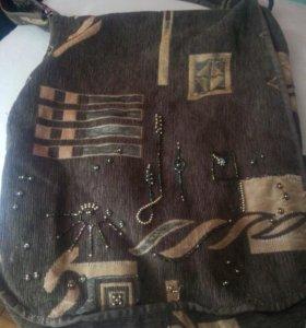 Тканевая сумка ручная работа