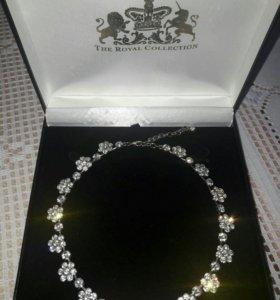 Колье ожерелье сваровски
