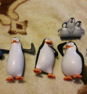 Игрушки с мультика пингвины мадагаскар