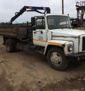Газ 3309 дизель самосвал с краном и грейфером