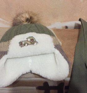 Комплект новый шапка шарф